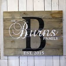 personalized names rustic farmhouse style wood family name sign custom name sign