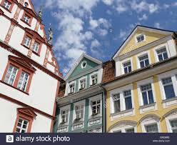 coburg beautiful old houses at market place stock photo royalty