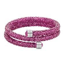 crystal pink bracelet images Swarovski crystaldust fuchsia pink crystal double bangle jpg