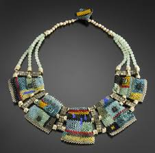 colorfield necklace by julie powell beaded necklace czech glass
