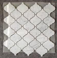 Arabesque Backsplash Tile by Captiva Collection Oyster Shell Decorative Arabesque Tile 15 50