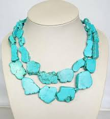 turquoise gem necklace images Statement necklace turquoise natural stone necklace online with jpg