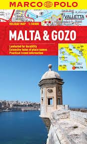 malta u0026 gozo marco polo holiday map marco polo holiday maps