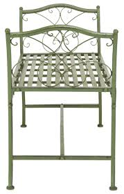 Green Wrought Iron Patio Furniture by Pat5015a Garden Benches Furniture By Safavieh