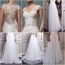 lace top wedding dress lace top and chiffon bottom combined bridal dress custom