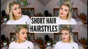 quick u0026 easy hairstyles for short hair youtube