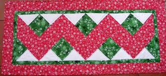 zig zag table runner vicki s fabric creations tutorial finished for zig zag table runner