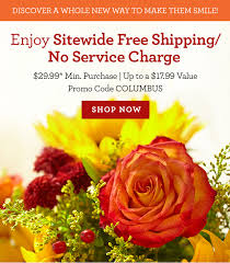 flower delivery free shipping 1 800 flowers free shipping no service charge for columbus