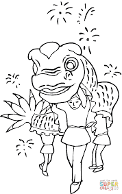 chinese new year decoration coloring page free printable