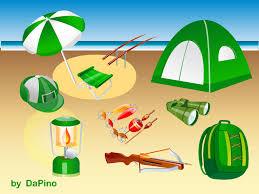 cartoon beach scene clipart 47