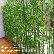 q092812 garden decoration artificial bamboo fence cheap ornamental