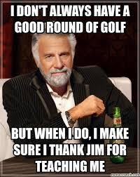 Pyjama Kid Meme - sucks at golf