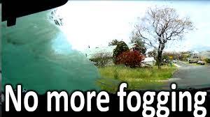 how to stop windscreen fogging rain x antifog review youtube