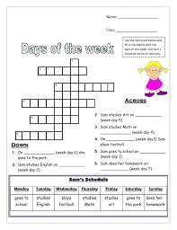 days week printable poster weekdays worksheet in pdf for awesome