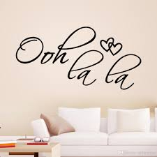 ooh la la wall stickers home decor decals art characters 2015 new