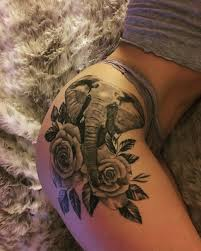 the 25 best elephant thigh tattoo ideas on pinterest elephant