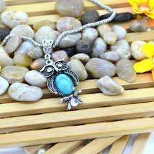 turquoise necklace silver chain images Vintage turquoise owl necklaces silver pendant jewelry diary jpg