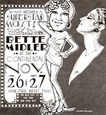 bette midler at the continental baths nyc november 1971 i bette midler at the continental baths nyc november 1971