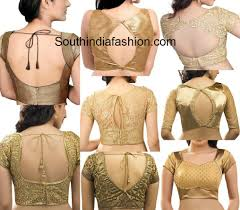 golden blouse readymade gold blouses in different patterns south india fashion