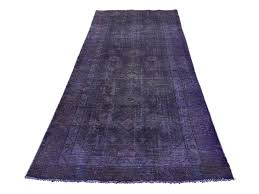 3 u00274 u0027 u0027x8 u00276 u0027 u0027 overdyed persian hamadan worn purple runner hand