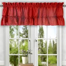 Modern Kitchen Valance Curtains by Window Valances Café U0026 Kitchen Curtains You U0027ll Love Wayfair