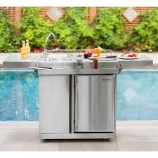 free standing kitchen sink cupboard outdoor entertainment 62 stainless steel free standing outdoor sink