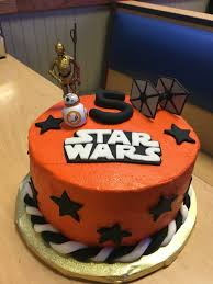 star wars force awakens birthday cake homemade buttercream with