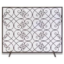 Single Fireplace Screen by Abington Single Panel Pilgrim Hearth