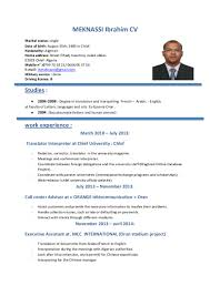 Resume Translator English Cv