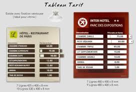 prix chambre hotel creobs signalétique porte clé et accessoires tableau tarif