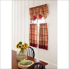 Blue Kitchen Curtains by Kitchen Yellow Blue Kitchen Curtains Motif Fabricback Curtains