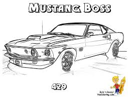 69 mustang boss 429 muscle car you can print out this muscle car