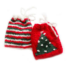 knitting patterns galore holiday gift bag set knitted toys