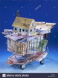 icon building of a house financing bank notes euro shopping