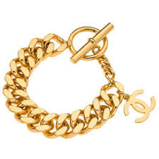 gold chain bracelet with charms images Chanel chanel gold chain bracelet with cc charm polyvore out=j