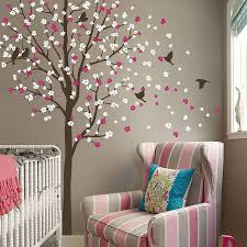 tree wall art stickers shenra com wind swept tree with birds wall sticker by wall art