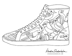birds doodles shoes and free coloring pages u2014 kendra shedenhelm