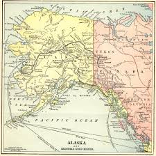 Maps Alaska by 1899 Map Of Alaska And The Yukon Territory Explorenorth