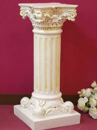 White Pedestal Flower Stand Square Column Pedestal Plant Stands At Hayneedle Garden Ideas