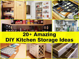 ideas for the kitchen 20 amazing diy kitchen storage ideas