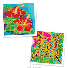 painting 2 in 1 box kit hibiscus flower and butterfly