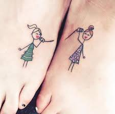sisters get matching tattoos but with a meaning