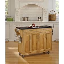 Black Granite Kitchen by Home Styles Create A Cart Natural Kitchen Cart With Black Granite