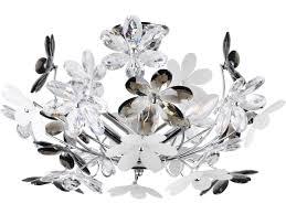 florale led deckenlampe chrom acrylglas ø46cm mit blüten