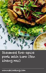 fen re cuisine steamed five spice pork with taro fen zheng rou opskrift