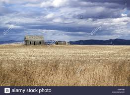 lonesome house in the wasteland of idaho stock photo royalty free
