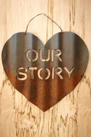 wall decor winsome spectacular our story of love metal wall