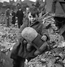 sad london boy in aftermath of world war ii bombing cool old photos