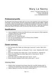 Sample Resume For Nanny Job by Resume Objective Example Of Nanny Resume Images Nanny Resumes