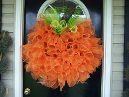 for the love of sweets tulle pumpkin wreath
